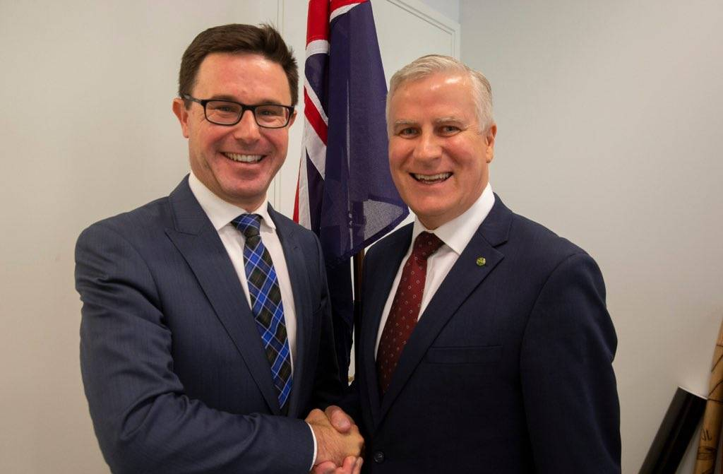 Leadership team: New Nationals deputy David Littleproud and party leader Michael McCormack. Photo: The Nationals