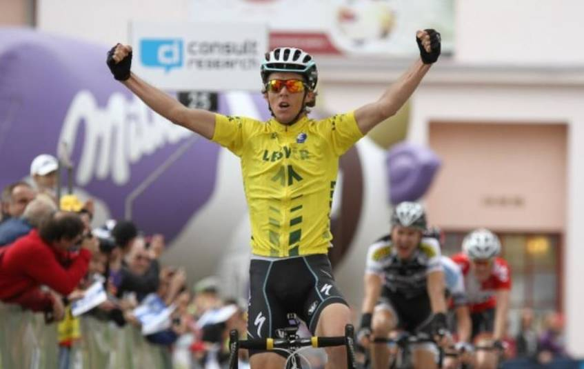 Cycling win: Sam Spokes win the Peace Race in the Czech Republic in 2014. Photo: Supplied