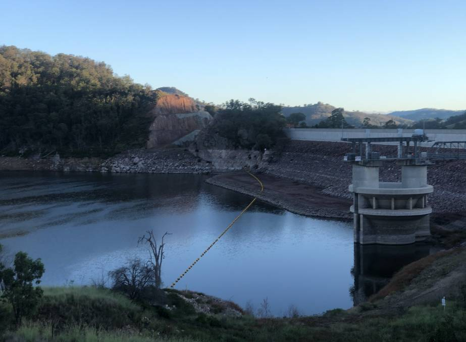 Falling: No rain fell in the Chaffey Dam catchment near Nundle this week.