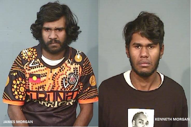NSW police have released images of wanted men James Fernando (also known as James Morgan) and Kenneth Morgan. Picture: Supplied