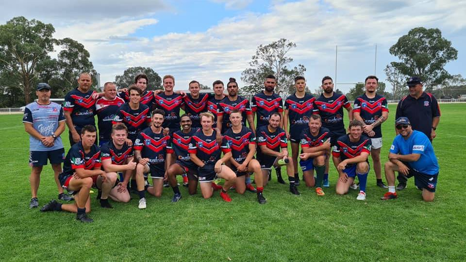 HIT-OUT: The Kootingal-Moonbi side took on Gulgong on the weekend in a trial match. Photo: Kootingal Moonbi RLFC Facebook