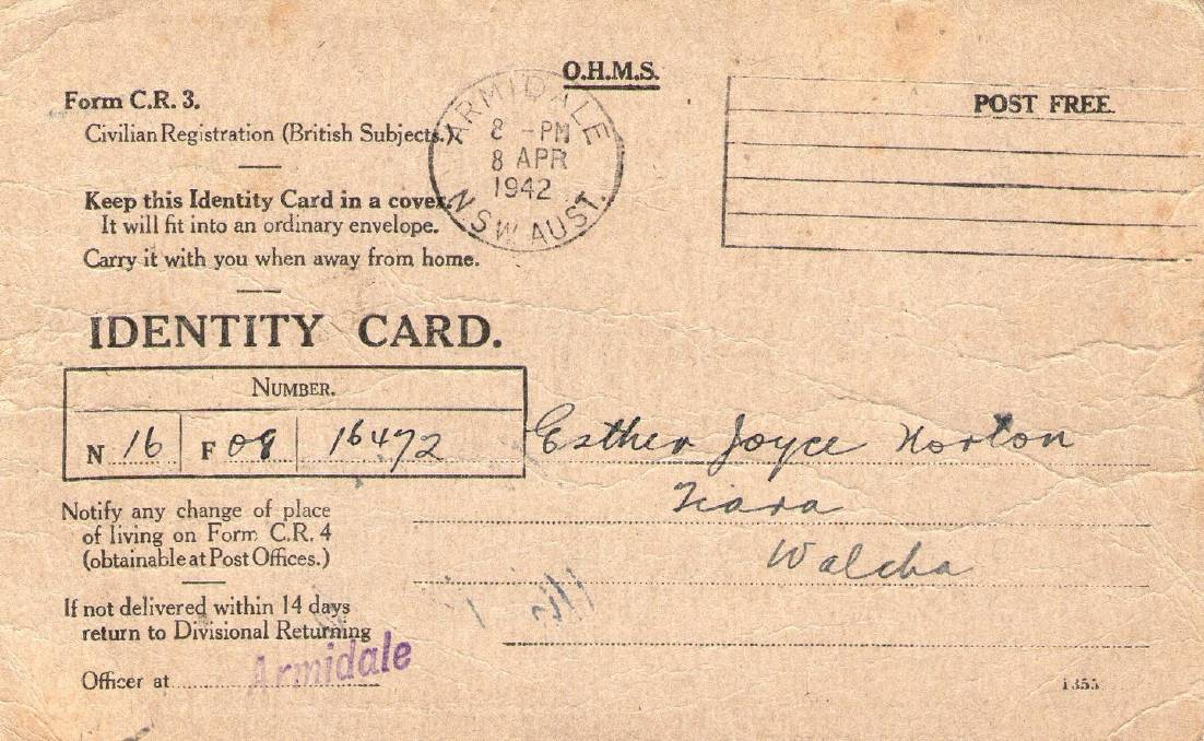 War-time precaution: Identity cards were compulsory during the World War II years from 1942-1945.