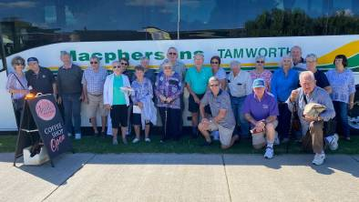 MINI HOLIDAY: Members embarked on 'Robbo's Mystery Bus Trip' on Thursday. Photo: Supplied