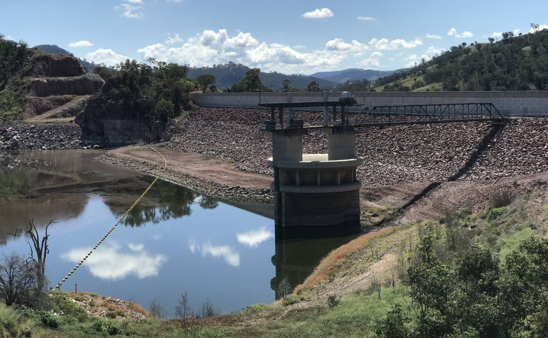NOT ENOUGH: Chaffey Dam managed to get some inflows over the weekend but Tamworth cannot become complacent. Photo: Ross Ferguson.