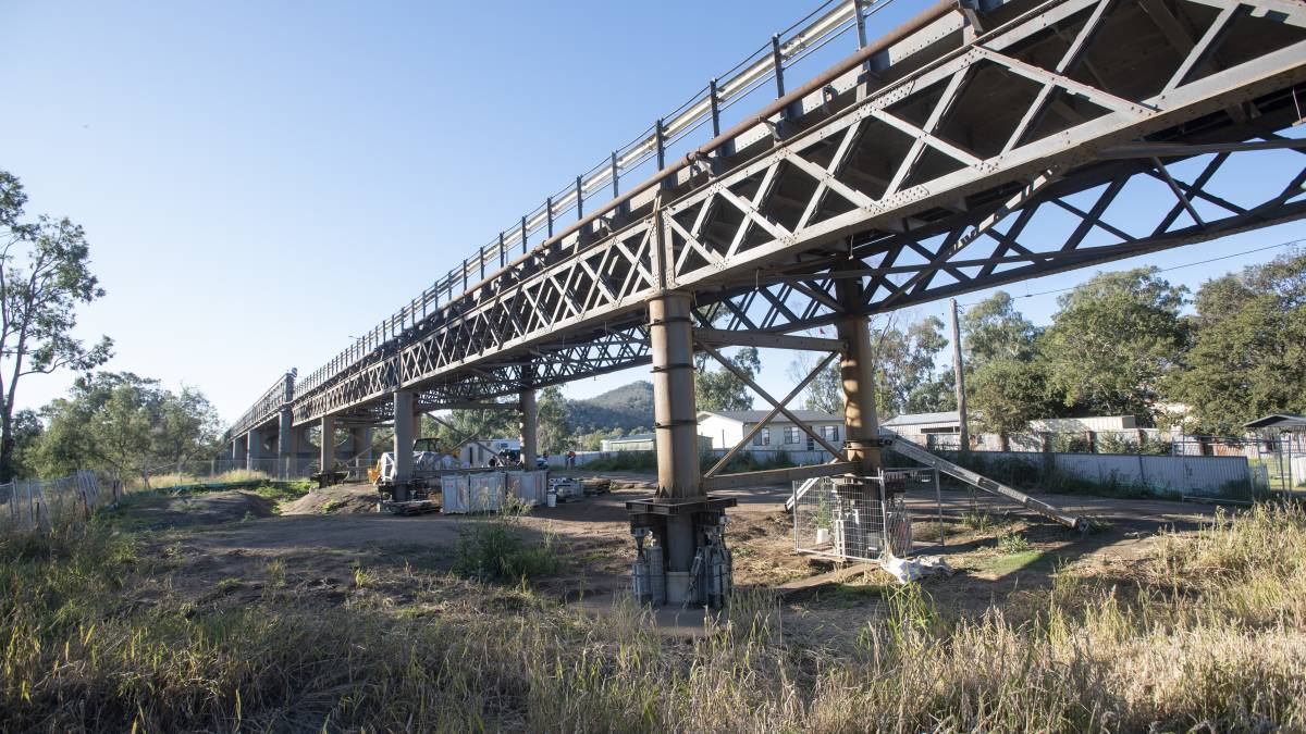 EXTENDED: The reduced load limit on the Namoi River Bridge in Manilla has been extended until damage can be fixed. Photo: Peter Hardin