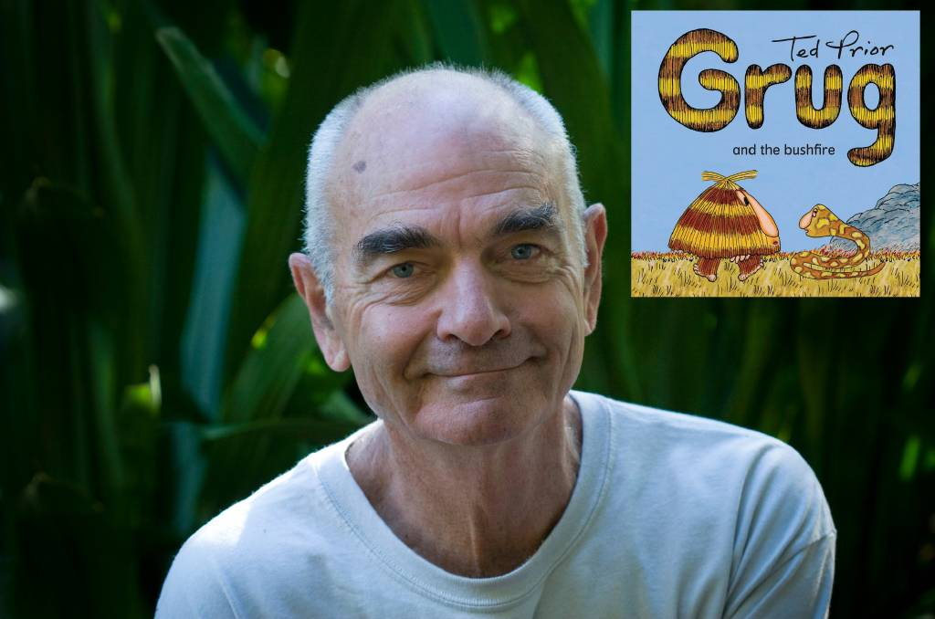 Author/illustrator Ted Prior has created an all new Grug book inspired by his own experiences during the 2019 NSW bushfires.