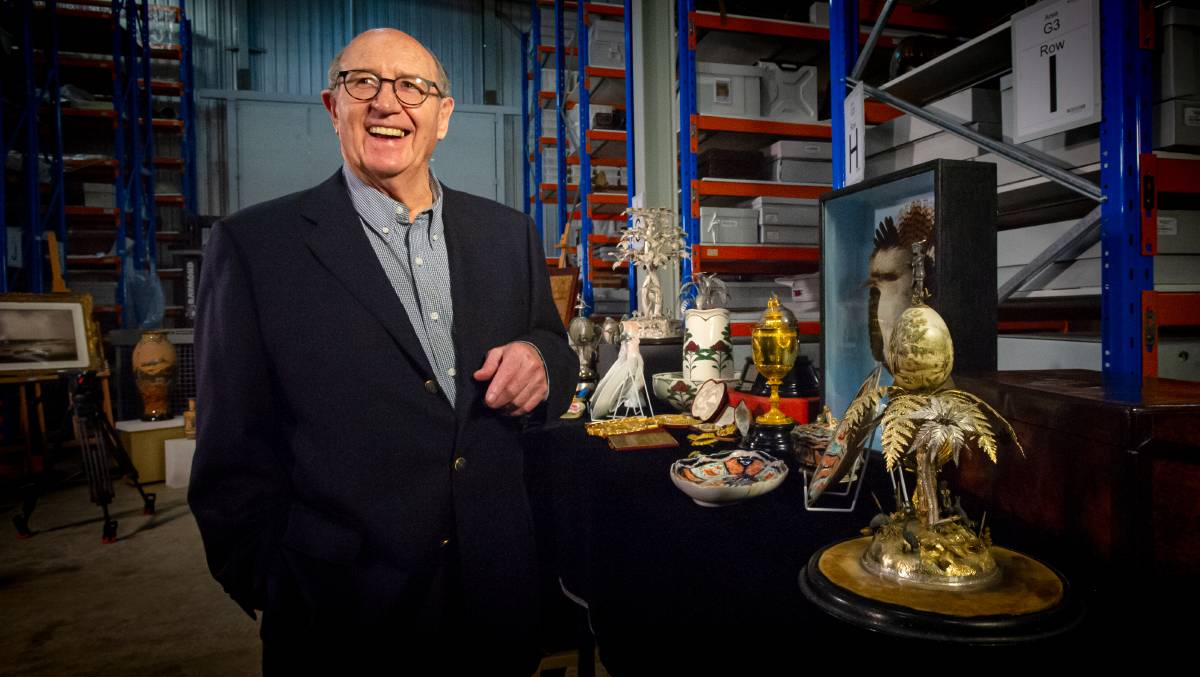 Trevor Kennedy is selling and donating a large amount of his collection of historic and decorative arts to the National Museum of Australia. Picture: Elesa Kurtz