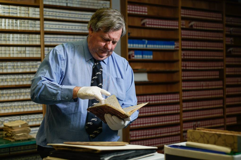 SHAKY FUTURE: University of New England senior archivist William Oates.
