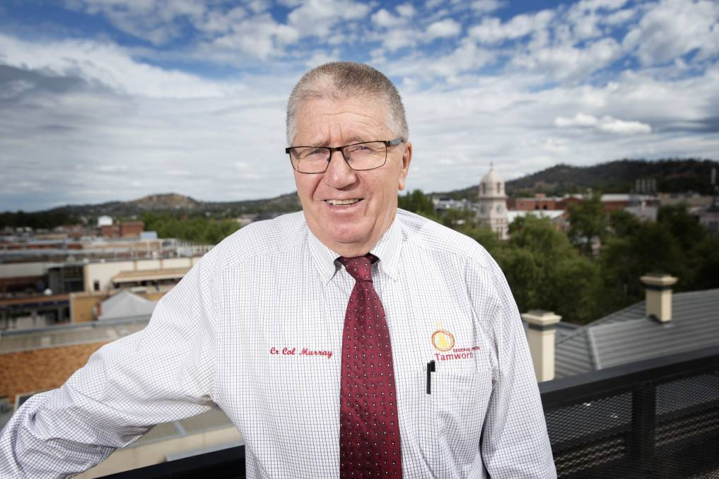 PROGRESS PLANS: Tamworth Regional Council mayor Col Murray has big plans for 2021. Photo: Peter Hardin, file.