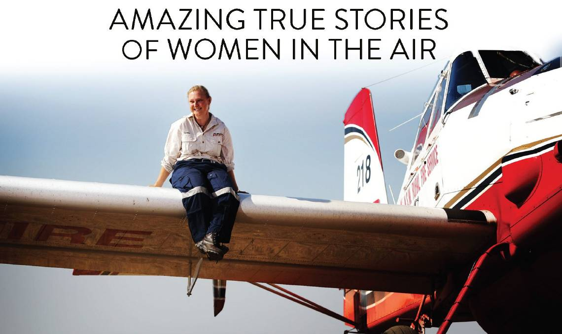 Detail of Australian Women Pilots: Amazing True Stories of Women in the Air cover. Picture: Supplied