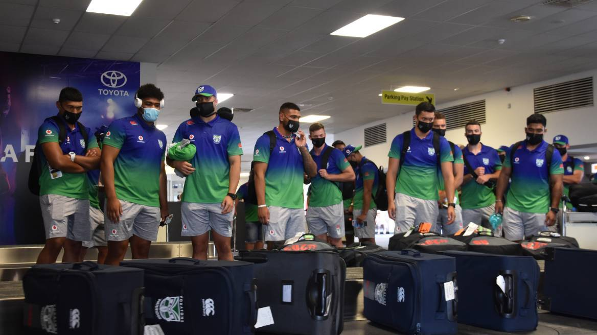 The Warriors arrive in Tamworth for what will now be at least a five-and-a-half month stay in Australia. Photo: Andrew Messenger
