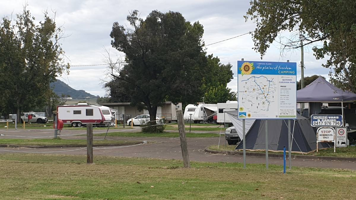 BUSINESS BOOM: Quirindi Caravan Park was packed with travellers during the holidays. Photo: supplied