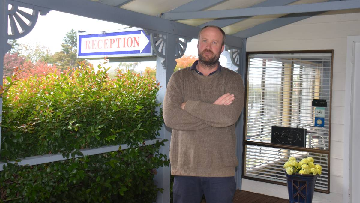 BLOW TO BUSINESS: Armidale Motel owner David Lawson said all motels in town would typically be booked out when graduation ceremonies are planned. Photo: Laurie Bullock