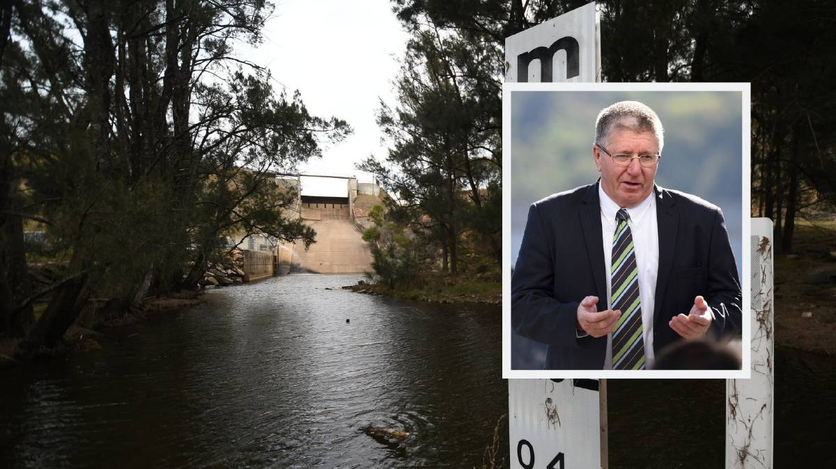 WORKING ON IT: Tamworth mayor Col Murray was not concerned by a new water report's findings. Photos: Gareth Gardner