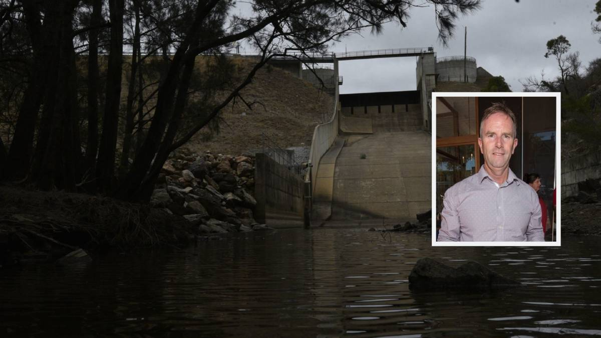 PLEASE EXPLAIN: Tamworth councillor Mark Rodda wants to know how Chaffey Dam was drained so quickly. Photos: Peter Hardin and Jacob McArthur